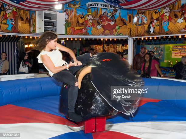 Sussex University students at a Freshers party on Brighton Pier on the Beat The Bull ride The University of Sussex is a public research university...