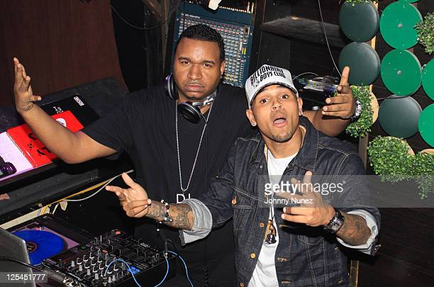 DJ SussOne and Chris Brown attend Ciara's Birthday Celebration at Greenhouse on October 26 2010 in New York City