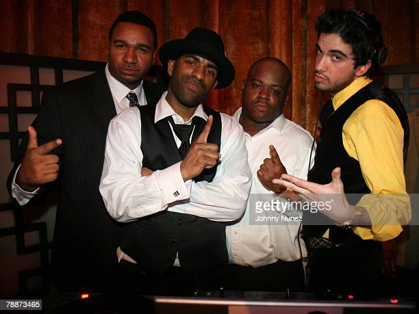 SussOne DJ Clue DJ Webstar and DJ Cassidy attends DJ Clue's Birthday Ball January 9 2008 New York City New York