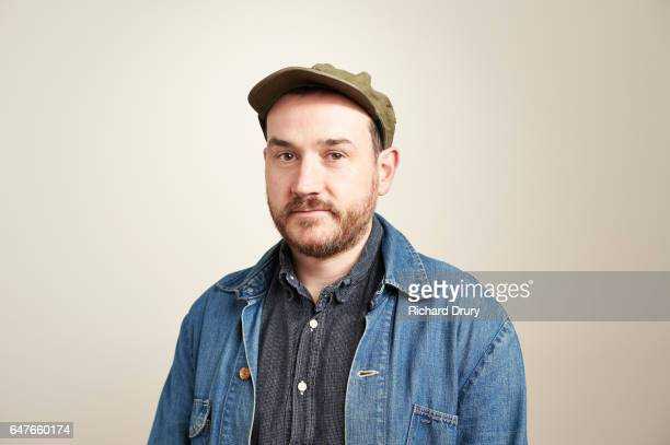 sustainability portrait - denim jacket stock pictures, royalty-free photos & images