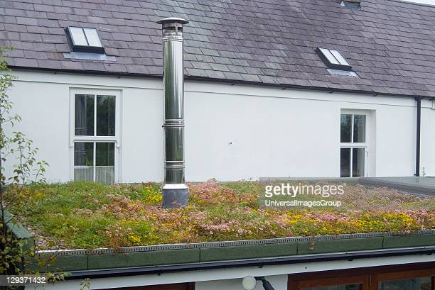 Sustainable building with a living roof and double skin insulated stainless steel flue Living roofs can be important refuges for wildlife