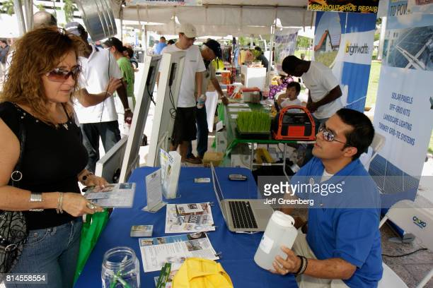 A sustainable lifestyle exhibitor at the Miami Goin' Green event