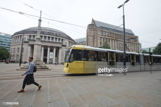 sustainable transport in manchester - greater manchester stock pictures, royalty-free photos & images