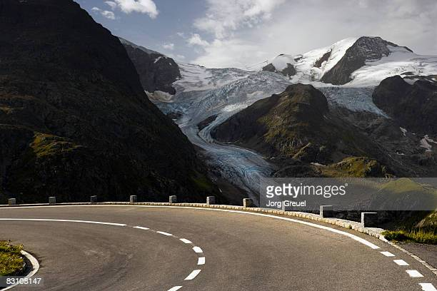 susten pass road, stein glacier in background - bern canton stock pictures, royalty-free photos & images