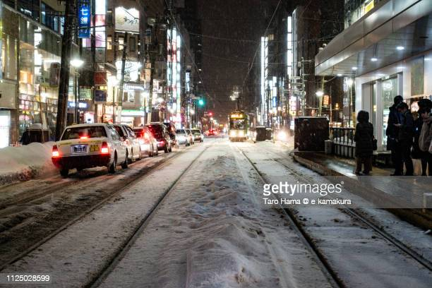 susukino crossing in sapporo city in hokkaido in japan - 歓楽街 ストックフォトと画像