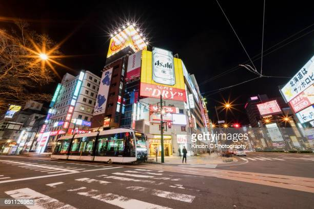 Susukino District, Hokkaido, Japan At Night