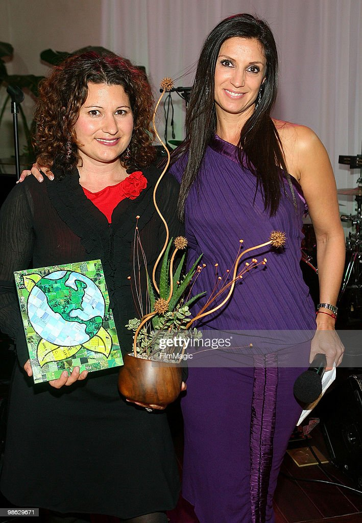 Susy Borlido and TV Host & founder/CEO of Green Lounge Eco Nicole Sherwin attend Green Lounge Eco Luxury Experience Earth Day Awards Presented By Lexus Santa Monica on April 22, 2010 in Santa Monica, California.