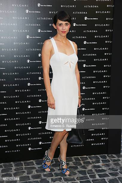 Susy Laude attends the 'Isabella Ferrari Forma/Luce' cocktail party at Horti Sallustiani on July 13, 2014 in Rome, Italy.