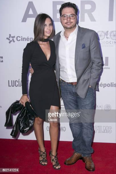 Susy Lu and Arath de la Torre pose during the premiere of the movie 'Las Hijas de Abril' at Cinepolis Carso on June 20 2017 in Mexico City Mexico