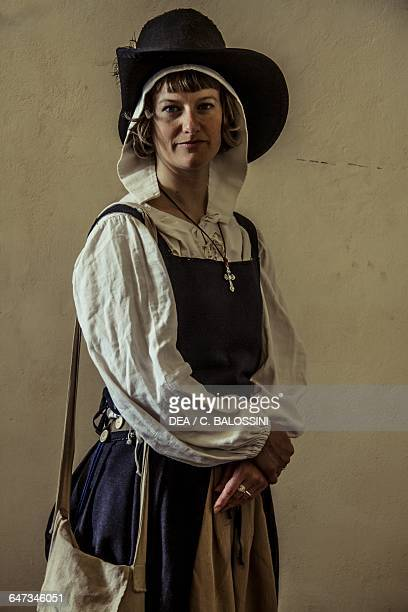 Sutler with haversack Italy 16th century Historical reenactment