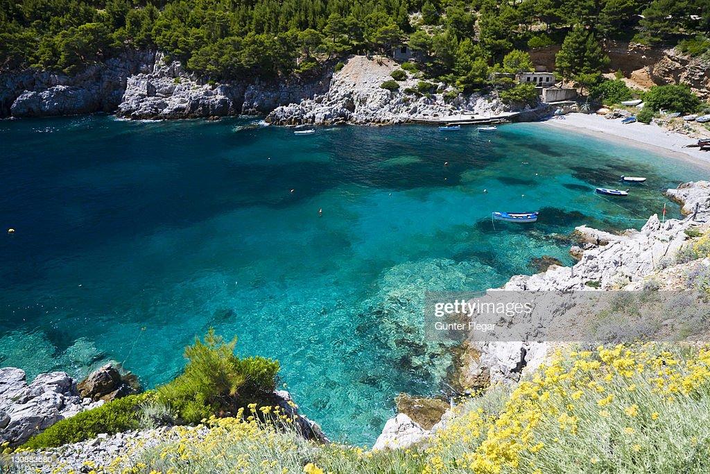Sutmiholjska swimming bay, Mljet Island, Dubrovnik-Neretva, Dalmatia, Croatia, Europe : Stock Photo