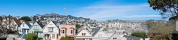 Sutro Tower suburbs panorama Twin Peaks Castro San Francisco California