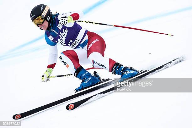 Sutter Corinne -SUI-AUDI FIS SKI WORLD CUP-Prove cronometrate- La Thuile-Valle D'Aosta 8th Ladies' downhill-superG on 18th February , 2016.