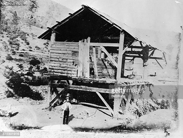 Sutter's Mill site of the discovery of gold in California Ca 1850s