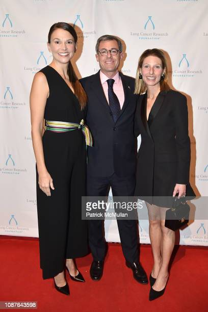 Sutton Foster Aaron Tighe and Kim Tighe attend Sixteenth Strolling Supper at Gotham Hall on November 7 2018 in New York City