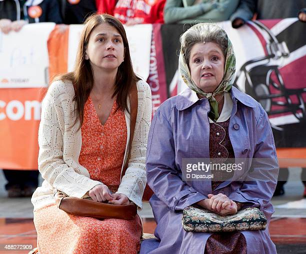 Sutton Foster and Annie Golden of Broadway's Violet perform on NBC's 'Today' in Rockefeller Plaza on May 5 2014 in New York City