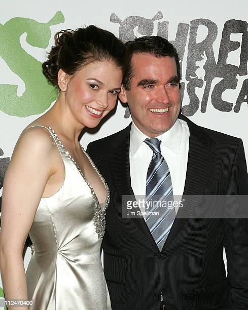 Sutton Foster and Brian d' Arcy James attends the opening night party for 'Shrek The Musical' on Broadway at the Plaza hotel on December 14 2008 in...