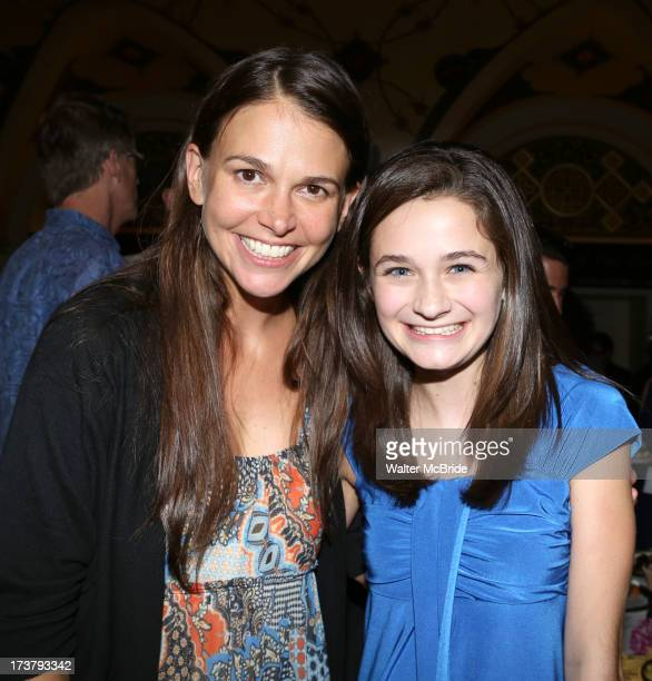 Sutton Foster and Emerson Steele attend the Cast Party for Encores OffCenter One Night Only Performance of 'Violet' at New York City Center on July...