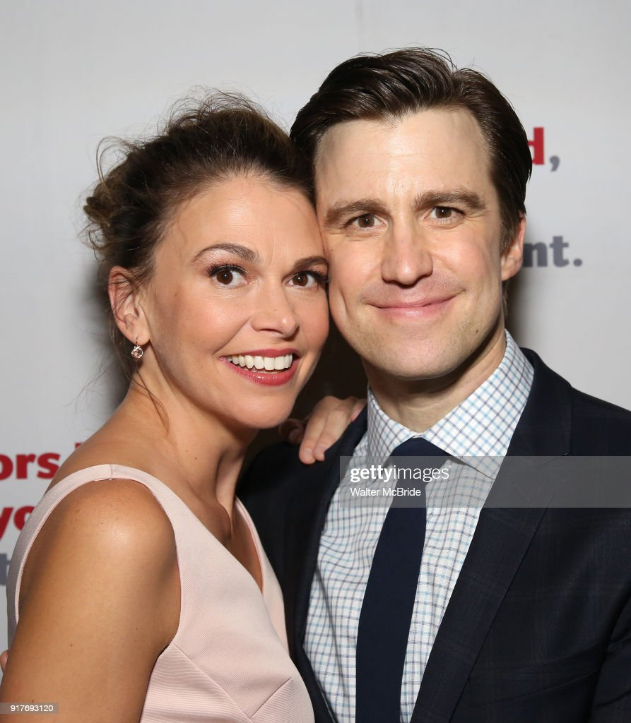 Sutton Foster and Gavin Creel attend the after party for the Actors Fund's 15th Anniversary Reunion Concert of 'Thoroughly Modern Millie' on February 18, 2018 at the Opry City Stage in New York City.