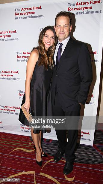 Sutton Foster and husband Ted Griffin attend The Actors Fund 2016 Gala at Marriott Marquis Times Square on April 25 2016 in New York City