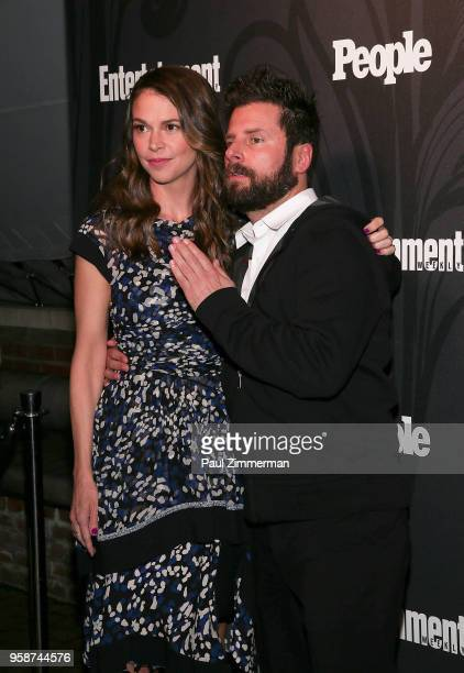Sutton Foster and James Roday attend the 2018 Entertainment Weekly PEOPLE Upfront at The Bowery Hotel on May 14 2018 in New York City