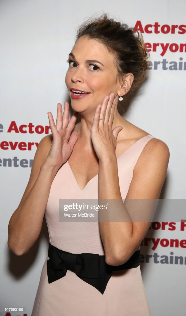 Sutton Foster attends the after party for the Actors Fund's 15th Anniversary Reunion Concert of 'Thoroughly Modern Millie' on February 18, 2018 at the Opry City Stage in New York City.