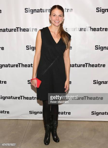 """Sutton Foster attends the """"Kung Fu"""" opening night party at Signature Theatre Company's The Pershing Square Signature Center on February 24, 2014 in..."""