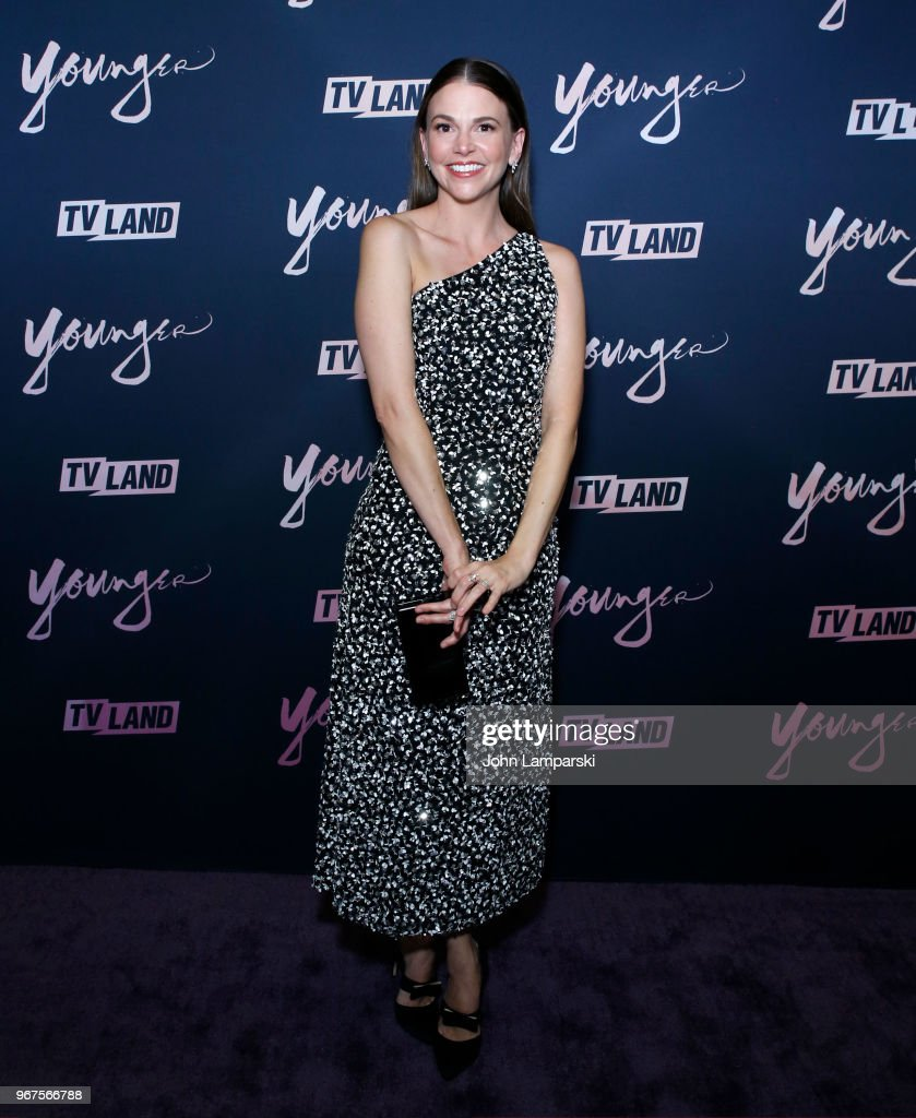 Sutton Foster attends 'Younger' season 5 premiere party at Cecconi's Dumbo on June 4, 2018 in Brooklyn, New York.