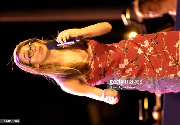 Sutton Foster during Broadway Under The Stars at Bryant Park New York in New York NY United States