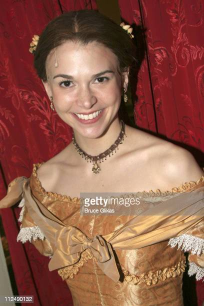 Sutton Foster during Wynonna Judd Backstage at 'Little Women' on Broadway March 23 2005 at The Virginia Theater in New York City New York United...
