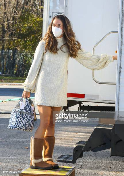 Sutton Foster is seen at the film set of the 'Younger' TV Series on November 10, 2020 in New York City.