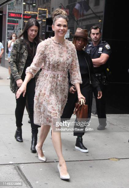 Sutton Foster is seen on June 11 2019 in New York City