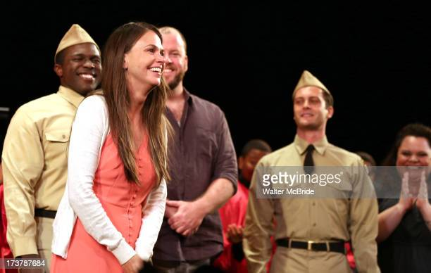 Sutton Foster Joshua Henry Chris Sullivan Van Hughes Keala Settle and Paul Whitty during the curtain call for Encores OffCenter onenight only...