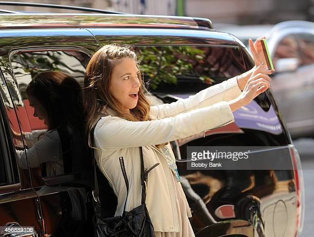 Sutton Foster on the set of 'Younger' on October 8 2014 in New York City