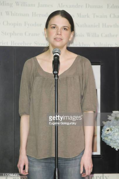 Sutton Foster performs at her book signing of Wish at Barnes Noble Lincoln Center on February 27 2009 in New York City