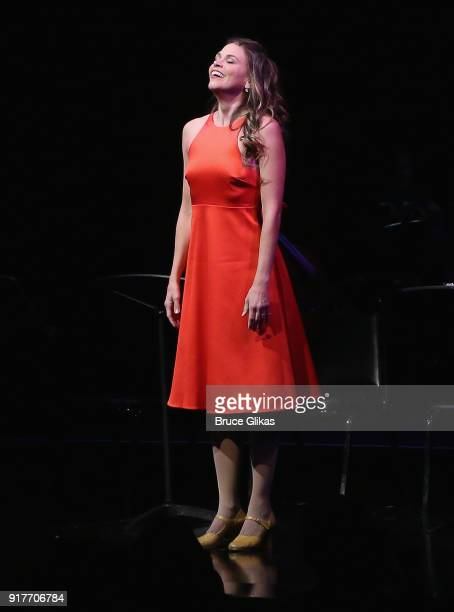 Sutton Foster performs in the 'Thoroughly Modern Millie' 15th Anniversary Reunion Concert at The Minskoff Theater on February 12 2018 in New York City