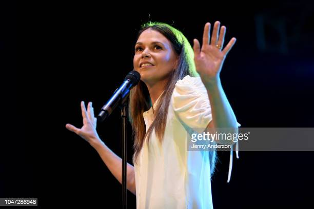 Sutton Foster performs onstage during the 4th Annual Elsie Fest, Broadway's Outdoor Music Festival, at Central Park SummerStage on October 7, 2018 in...