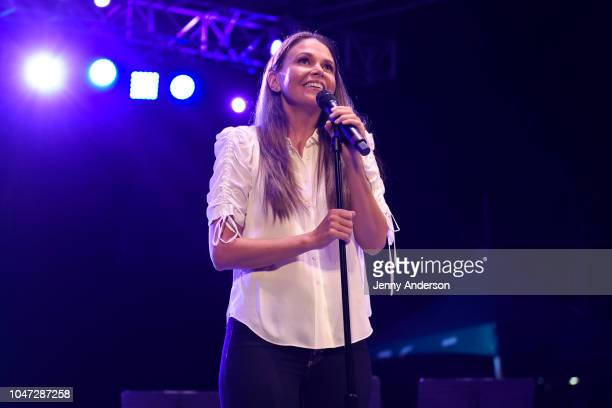 Sutton Foster performs onstage during the 4th Annual Elsie Fest Broadway's Outdoor Music Festival at Central Park SummerStage on October 7 2018 in...