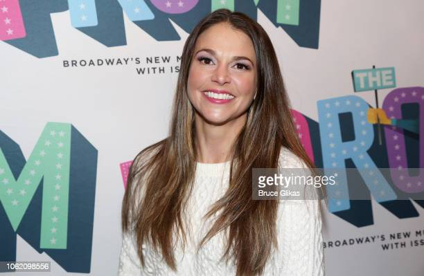 Sutton Foster poses at the opening night of the new musical The Prom on Broadway at The Longacre Theatre on November 15 2018 in New York City
