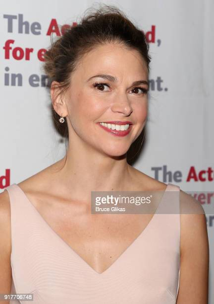 Sutton Foster poses at the 'Thoroughly Modern Millie' 15th Anniversary Reunion Concert After Party at Opry City Stage on February 12 2018 in New York...