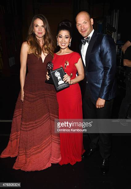Sutton Foster Ruthie Ann Miles and Corey Stoll attend the 2015 Tony Awards at Radio City Music Hall on June 7 2015 in New York City
