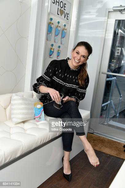 Sutton Foster shares her secrets for looking beautiful from head to toe at the Amope GelActiv ShoeLove Fashion Truck on February 7 2017 in New York...