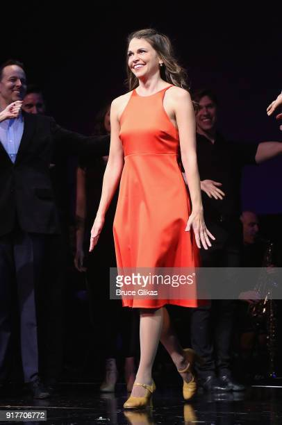 Sutton Foster takes her curtain call at the 'Thoroughly Modern Millie' 15th Anniversary Reunion Concert at The Minskoff Theater on February 12 2018...