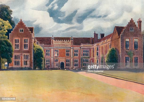Sutton Place' from 'A Pilgrimage In Surrey Vol 1' by James S Ogilvy 1920 Sutton Place Guildford Surrey is a Grade I listed Tudor manor house built...
