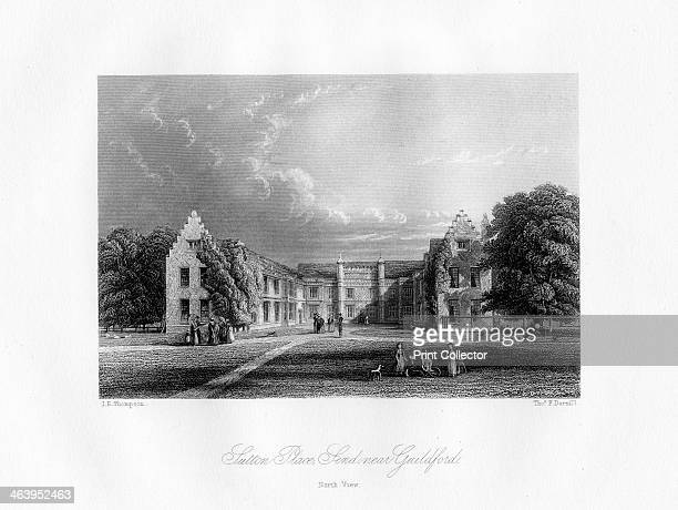 Sutton Place near Guildford Surrey 19th century North view of the Tudor estate built for Sir Richard Weston in the 16th century Millionaire Jean Paul...