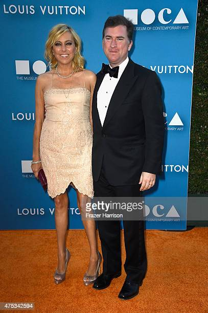 Sutton Stracke and Christian Stracke attend the 2015 MOCA Gala presented by Louis Vuitton at The Geffen Contemporary at MOCA on May 30, 2015 in Los...