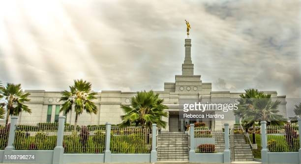 suva, fiji temple of the church of jesus christ of latter-day saints (lds) - latter stock pictures, royalty-free photos & images