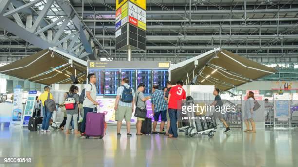 suvarnabhumi international airport bangkok thailand - suvarnabhumi airport stock pictures, royalty-free photos & images