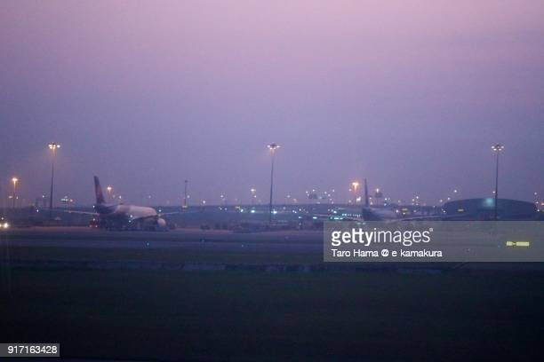 Suvarnabhumi International Airport in Thailand in the morning