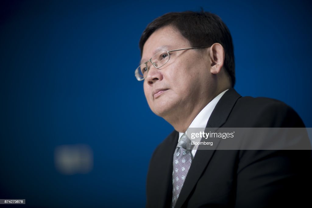 Suvit Maesincee, Thailand's vice minister of the prime minister and an adviser to the minister of finance, listens during an interview in Bangkok, Thailand, on Friday, Nov. 10, 2017. Suvit said Thailand remains on course for elections next year and that curbs on political parties will soon be eased, as pressure mounts on the military government to roll back restrictions on campaigning. Photographer: Brent Lewin/Bloomberg via Getty Images